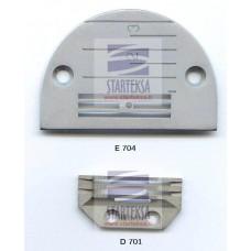 Adatos plokštelė E704 ir transportavimo dantukai D701